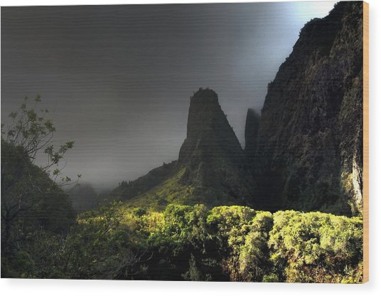Iao Mountains Wood Print