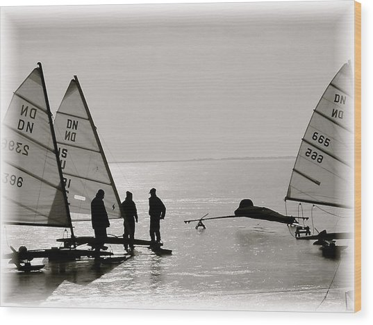 Ice Boats Wood Print