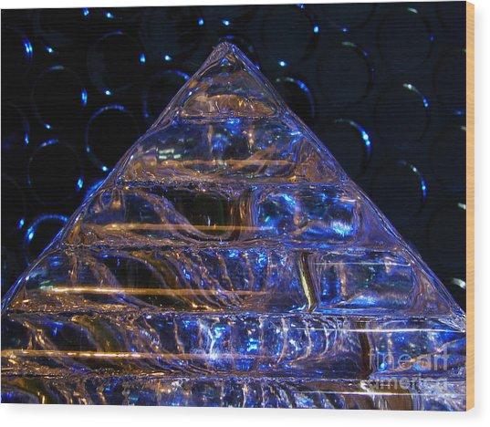 Ice Pyramid Wood Print