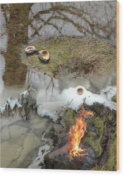 Ice Span Wood Print