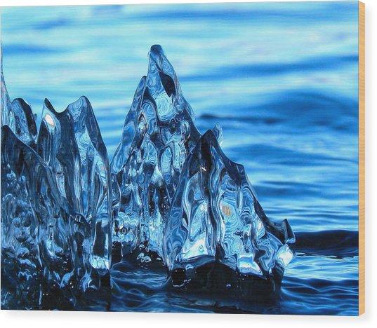 Iceberg River Wood Print