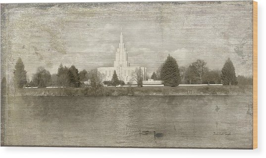 Idaho Falls Temple  Wood Print
