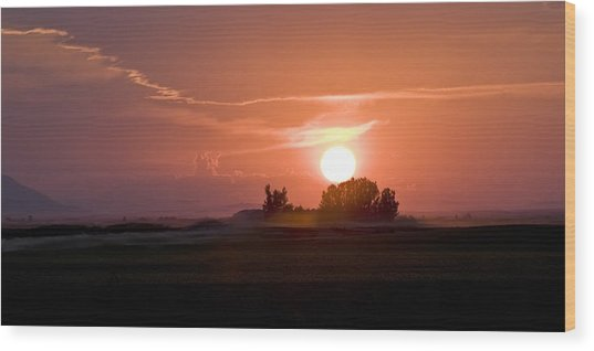 Idaho Sunset Wood Print