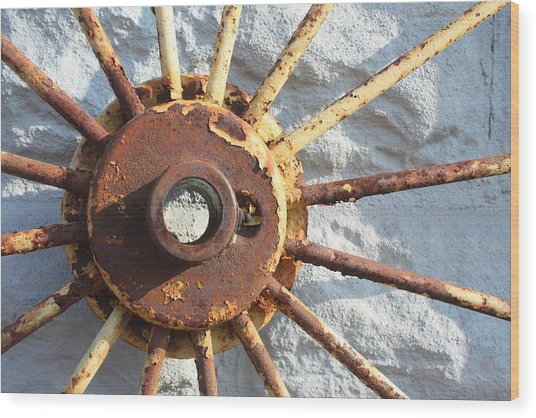If The Sun Rusted  Wood Print