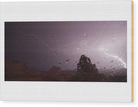 Illuminating Wetness Wood Print by Andreas Hohl