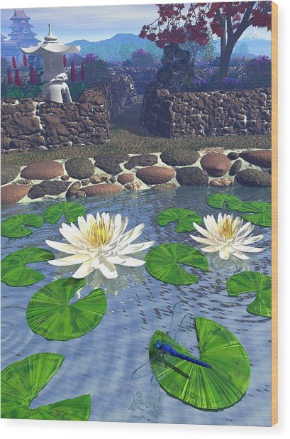 Immortal Dragonfly Wood Print by Diana Morningstar
