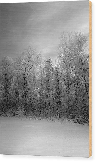 Impressionist Snow Wood Print