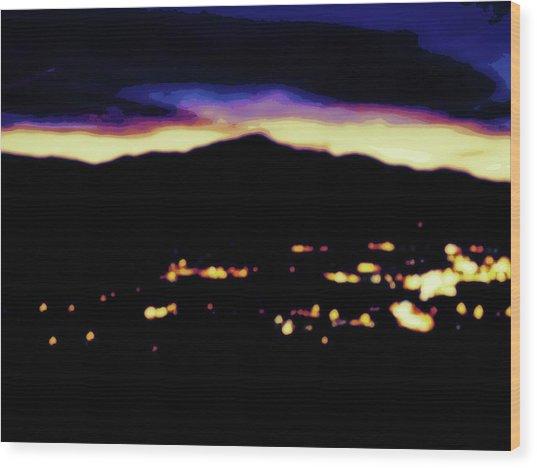 Impressionistic Pikes Peak Wood Print