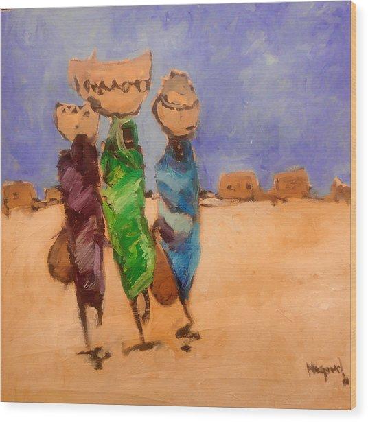 in Darfur 2 Wood Print by Negoud Dahab