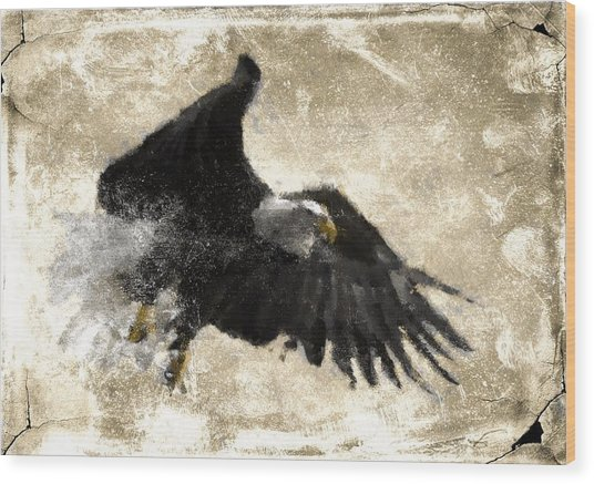 In Flight 8 Wood Print by Carrie OBrien Sibley