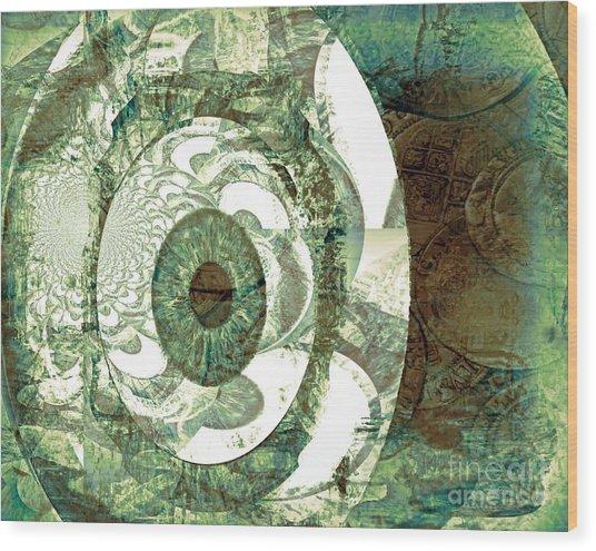 In God We Trust Wood Print by Fania Simon