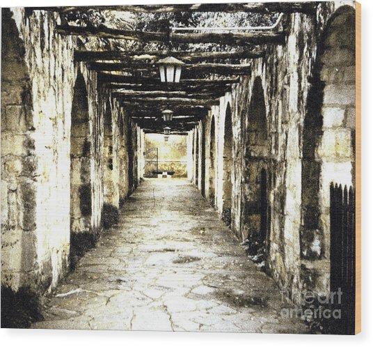 In Mission Capistrano Ca Wood Print by Merton Allen