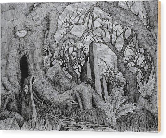 in my garden II Wood Print