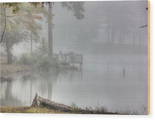 In The Fog Wood Print by Barry Jones