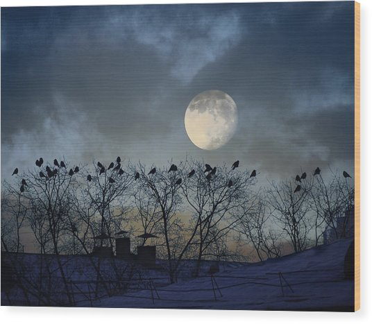 In The Moon Light Wood Print