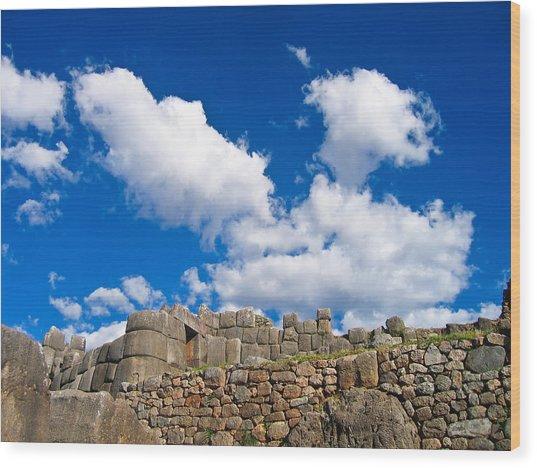 Inca Ruins Wood Print