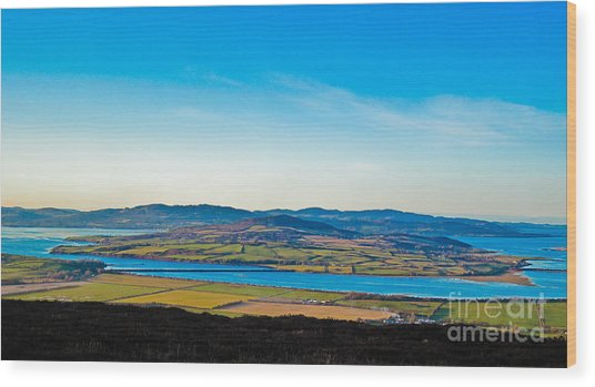Inch Island County Donegal Ireland Wood Print by Black Sun Forge