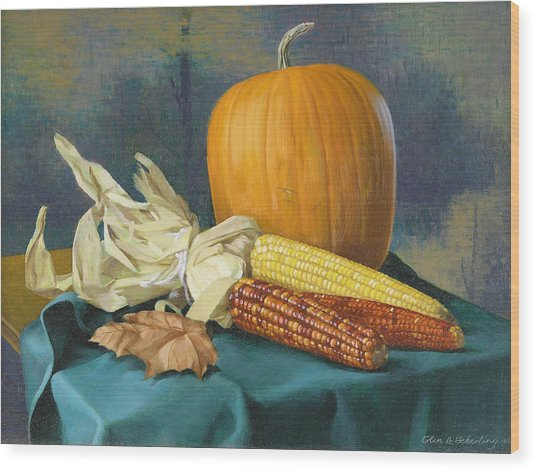 Indian Corn And . . . Wood Print by Glen Heberling