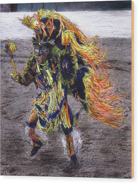 Indian Dancer Wood Print by Randy Sprout