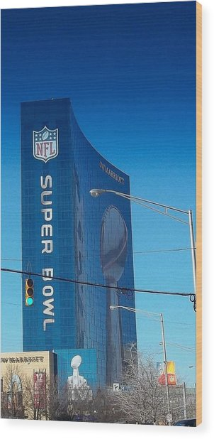 Indianapolis Marriott Welcomes Super Bowl 46 Wood Print