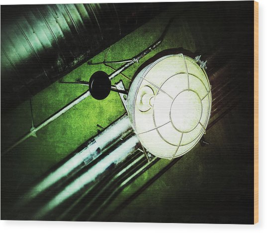 Industrial Light Wood Print