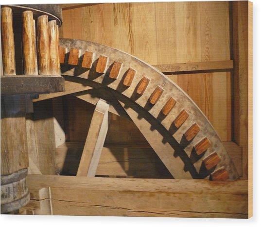 Industrial Work Wood Print by