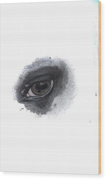 Wood Print featuring the photograph Indys Eye by Judy Hall-Folde