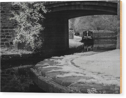Infrared At Llangollen Canal Wood Print
