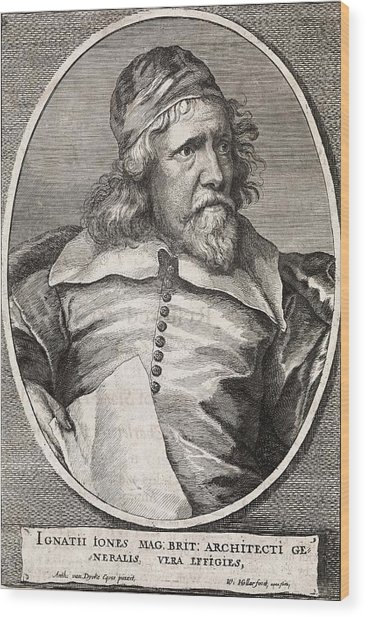 Inigo Jones, British Architect Wood Print by Middle Temple Library