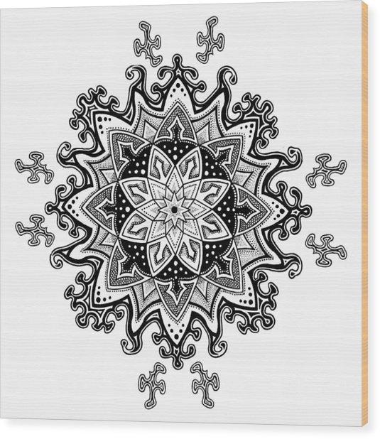 Innocent Snowflake Wood Print by Ansel Cummings