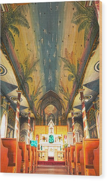 Inside The Painted Church Wood Print