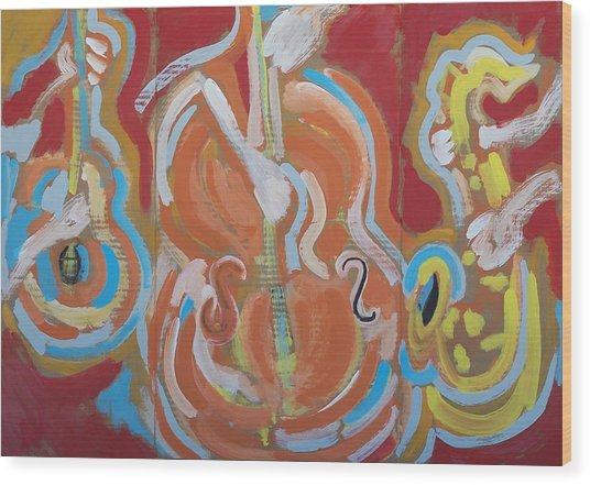 Instrumentalia Wood Print by Jay Manne-Crusoe