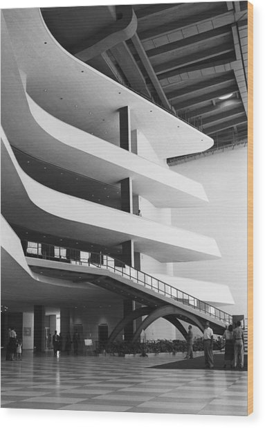 Interior Architecture Wood Print by George Marks
