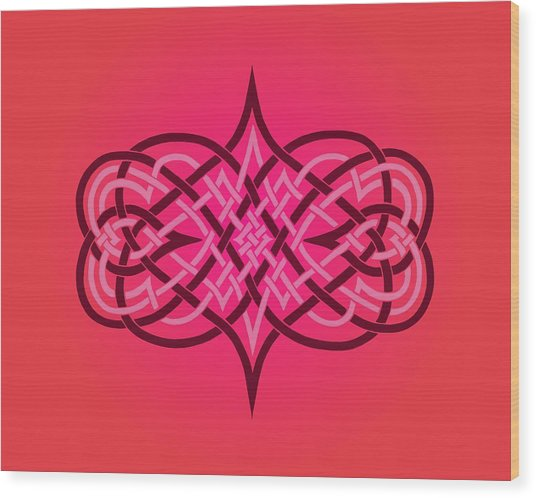 Interwoven Hearts Wood Print by Diana Morningstar