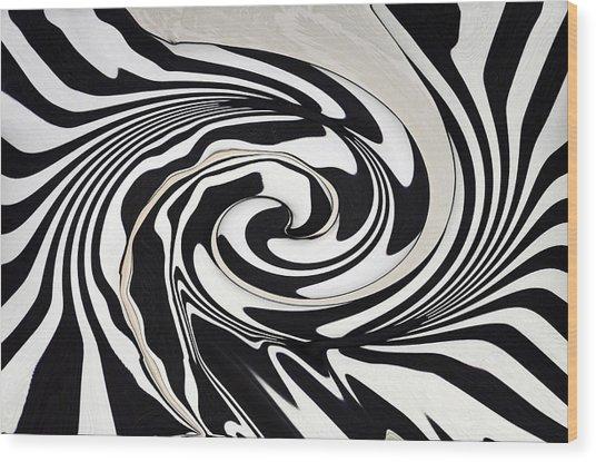 Intoxicated Zebra..... Wood Print by Tanya Tanski