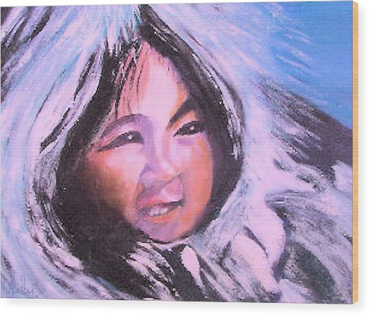 Inupiaq Eskimo Child Wood Print