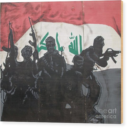 Iraqi Special Forces Wood Print by Unknown