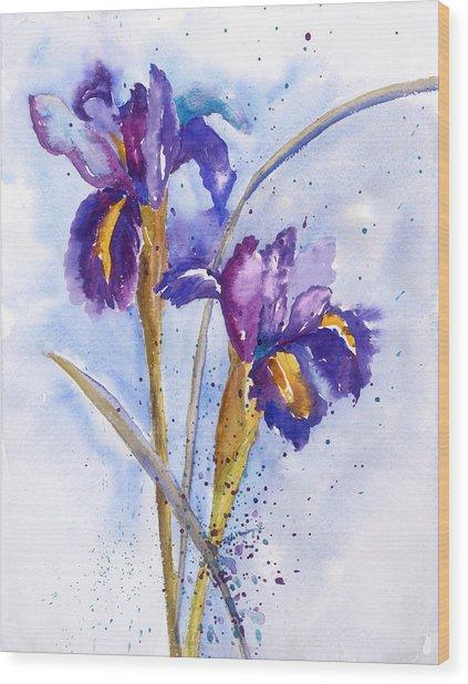 Iris Purple Wood Print