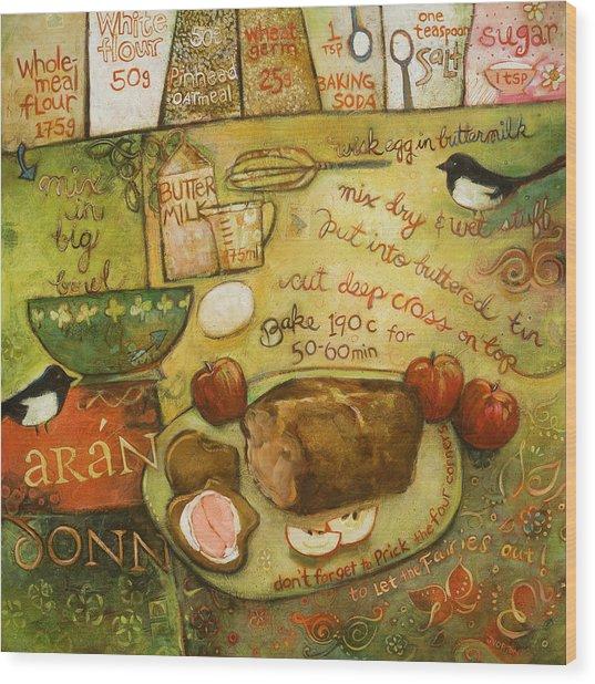Irish Brown Bread Wood Print