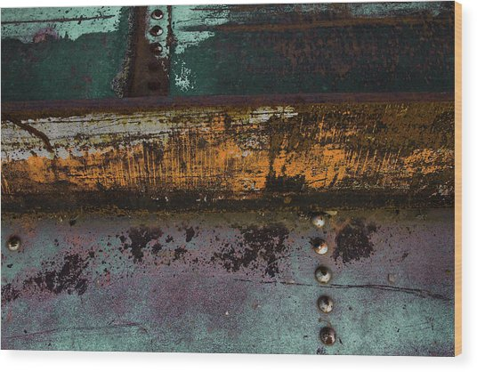Iron And Rust Wood Print