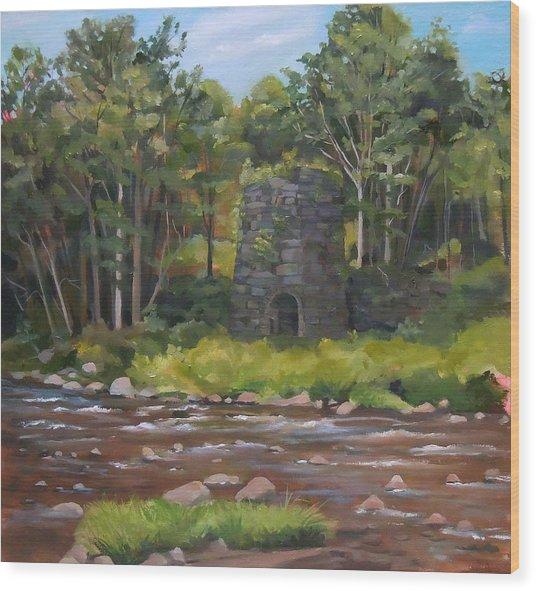 Iron Furnace Of Franconia New Hampshire Wood Print