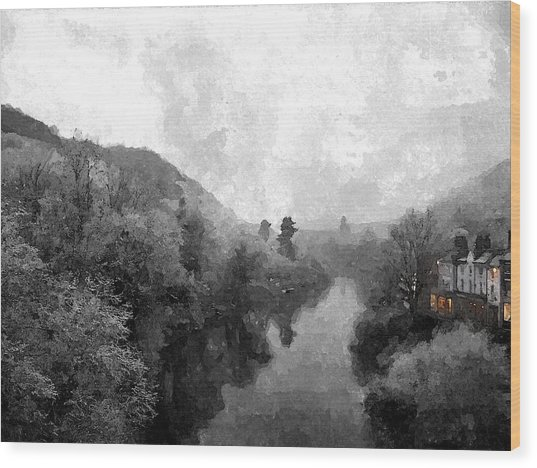 Ironbridge Winter Wood Print