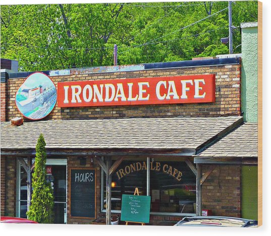 Irondale Cafe  Wood Print
