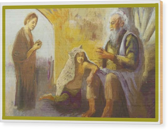 Isaac Blessing Of Jacob Wood Print