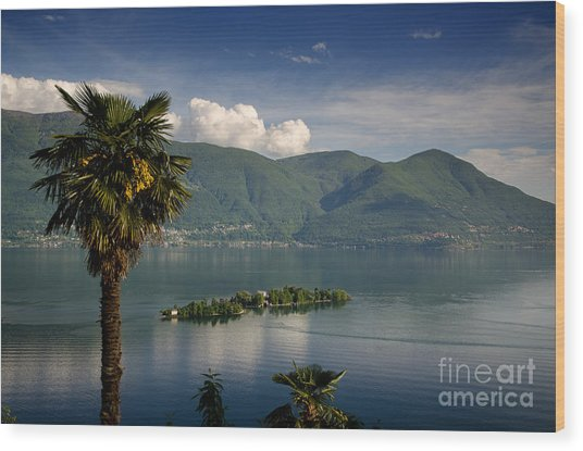 Islands On An Alpine Lake Wood Print