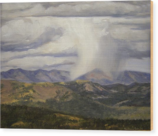Isolated Showers Wood Print by Victoria  Broyles