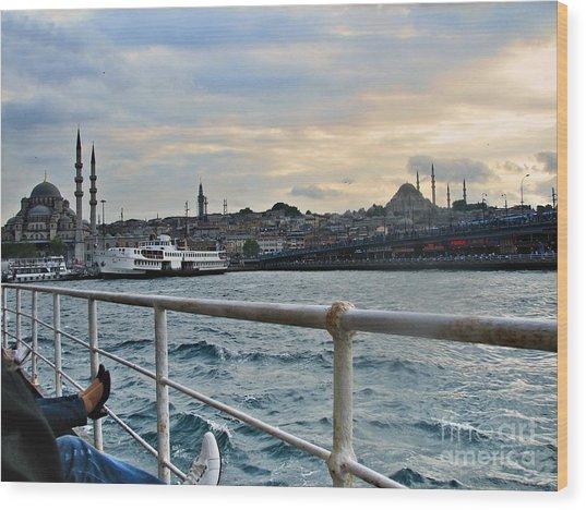 Istanbul  Wood Print by Bener Kavukcuoglu