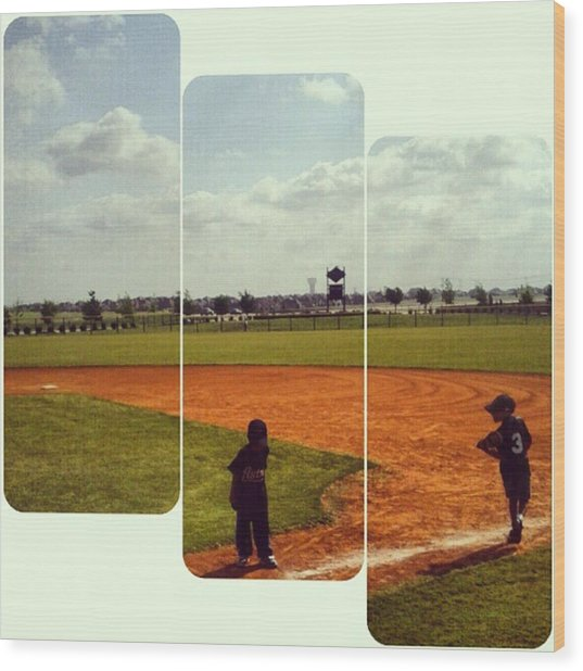 It Was A Great Day For Tball... #sports Wood Print by Kel Hill