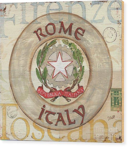 Italian Coat Of Arms Wood Print