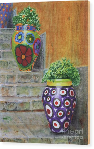 Italian Vases Wood Print